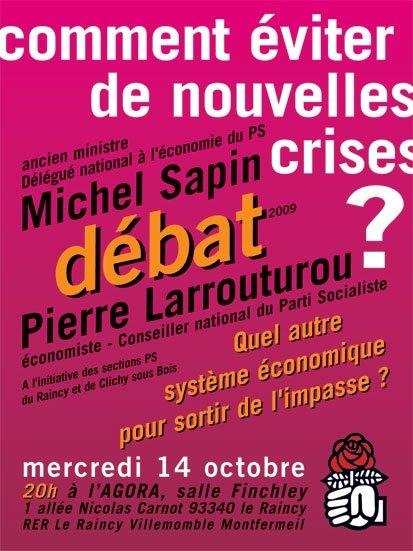 Venez debattre le 14 octobre 2009 dans Actualité du parti flyerafficheraincy