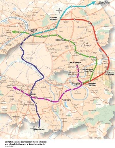 le tracé commun de double boucle de métro automatique à l'est dans actualité locale metroest