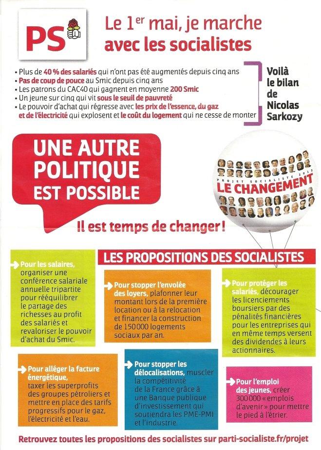 1er mai 2011 : Je marche avec les socialistes. dans Actualité du parti numrisation0009
