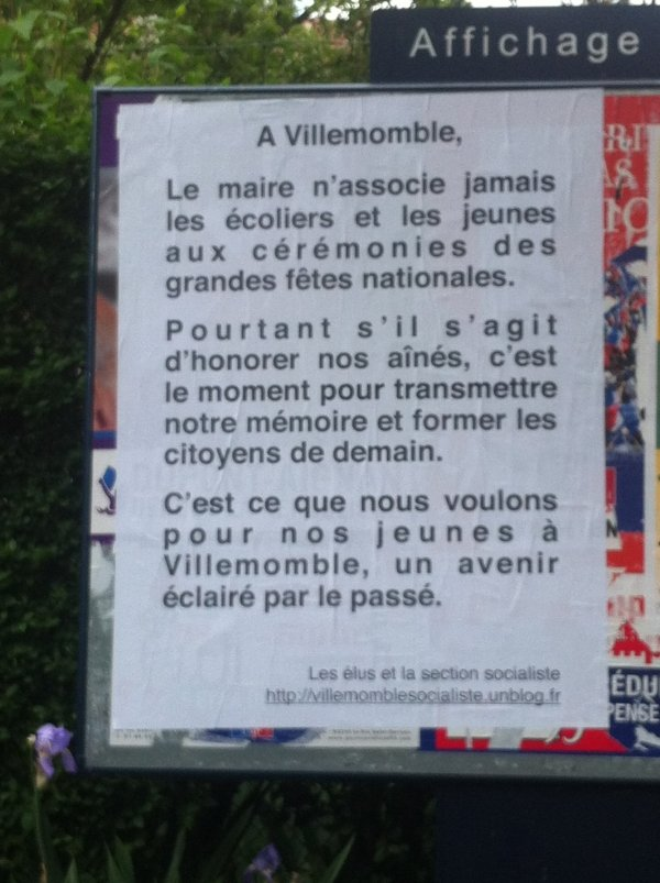 Affichage a Villemomble  dans actualité locale photo_ceremonie_jeune
