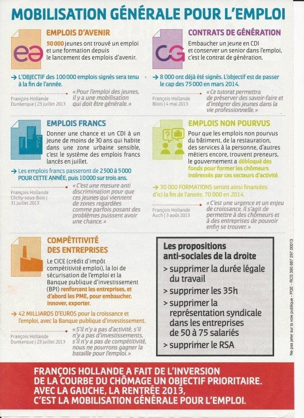 Gouvernement : Mobilisation pour l'emploi dans Politique Nationale emploi_09_13