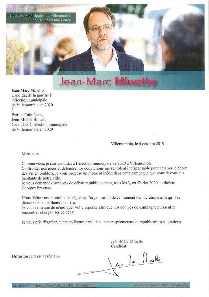 lettre aux candidats déclarés 20191004