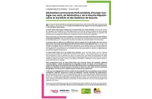 Declaration commune élections CD