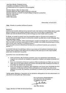 Courrier élus 6 août Bénoni